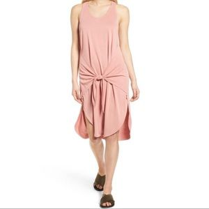 Trouve tie front sleeveless dress